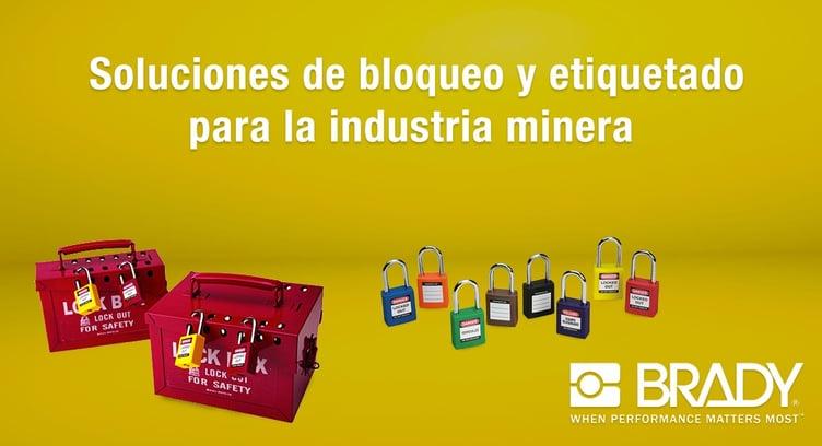 Soluciones Brady de bloqueo y etiquetado para la industria minera