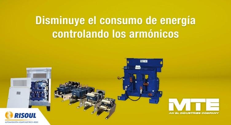 Disminuye el consumo de energía controlando los armónicos con productos MTE.