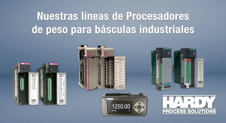Procesadores de peso para básculas industriales marca Hardy