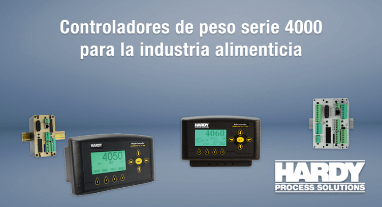 Controladores de peso serie 4000 de Hardy para la industria alimenticia