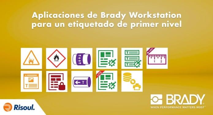 Aplicaciones de Brady Workstation para un etiquetado de primer nivel