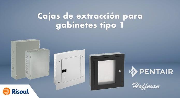 Cajas de extracción para gabinetes Hoffman tipo 1