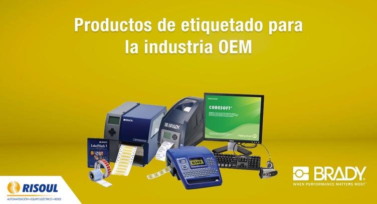 Productos de etiquetado Brady para la industria OEM