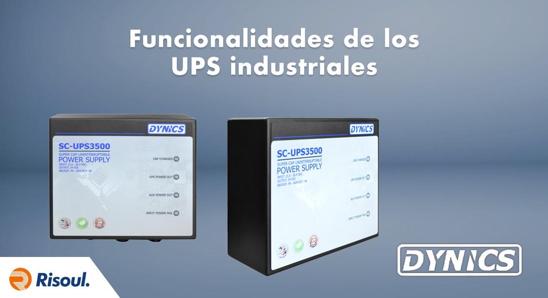 Funcionalidades de los UPS industriales Dynics