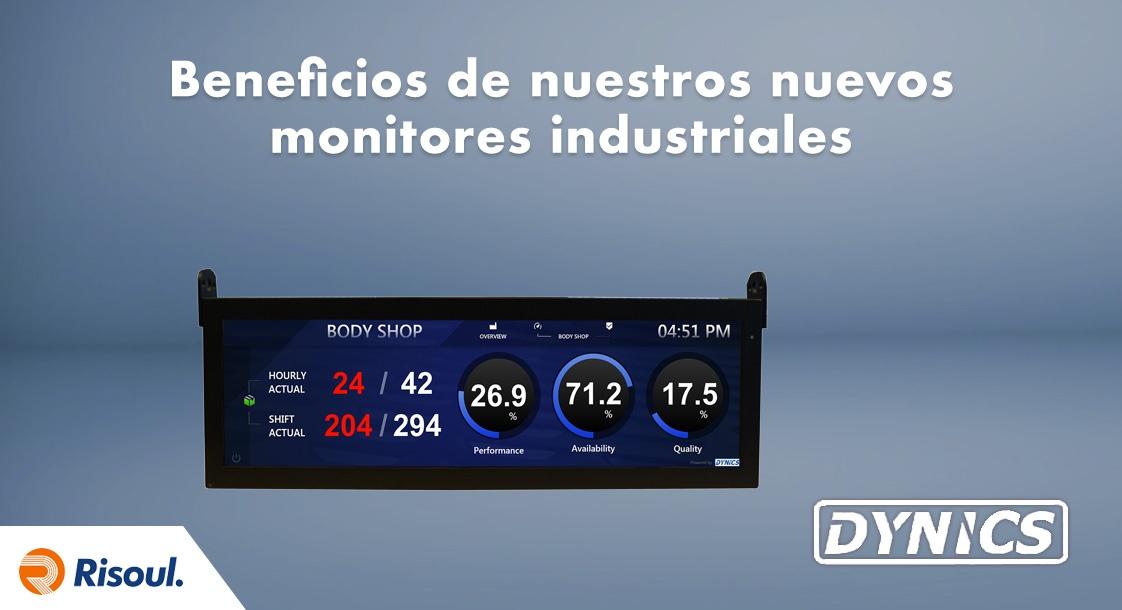 Beneficios de nuestros nuevos monitores industriales UW37 Dynics