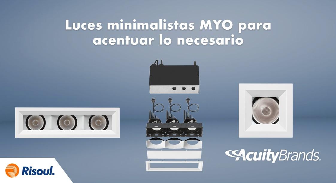 Luces minimalistas MYO de Acuity Brands para acentuar lo necesario
