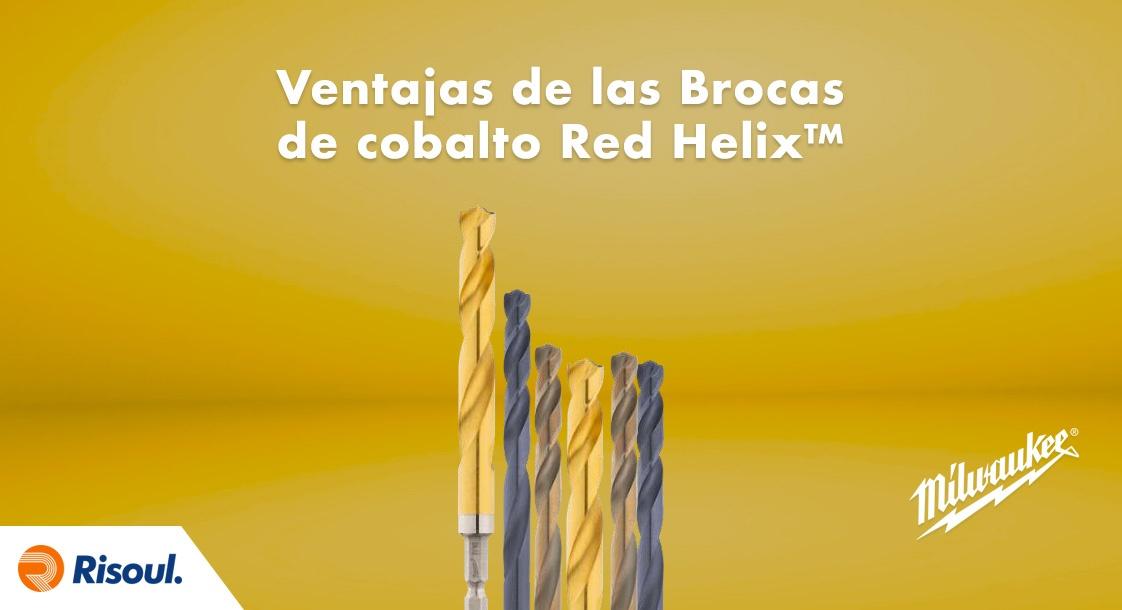 Ventajas de las Brocas de cobalto Métricas Red Helix™ Milwaukee