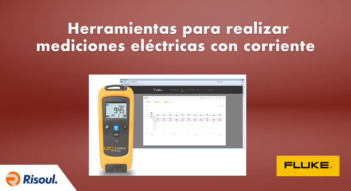 Herramientas Fluke para realizar mediciones eléctricas con corriente