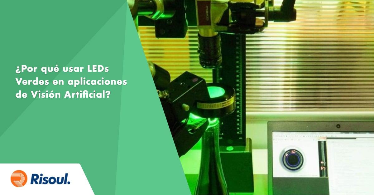 ¿Por qué iluminar con LEDs Verdes en aplicaciones de Visión Artificial en la Industria?