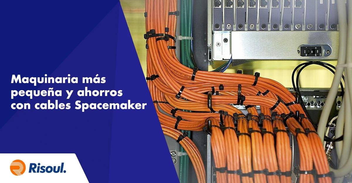 Maquinaria más pequeña y grandes ahorros con cables Spacemaker