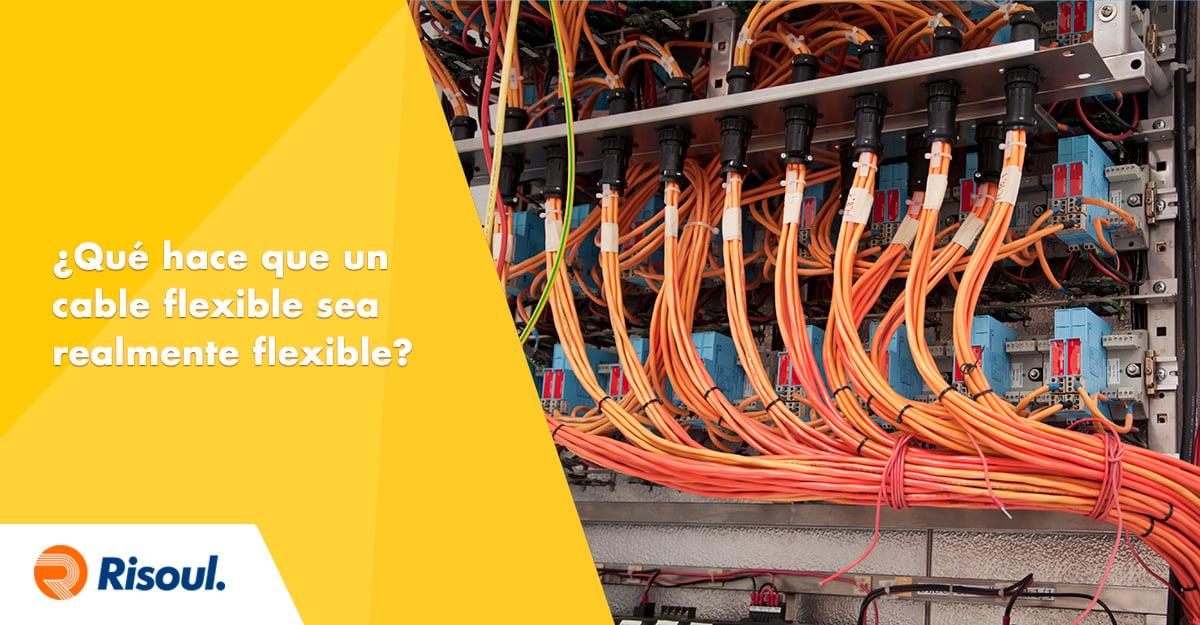 ¿Qué hace que un cable flexible sea realmente flexible?