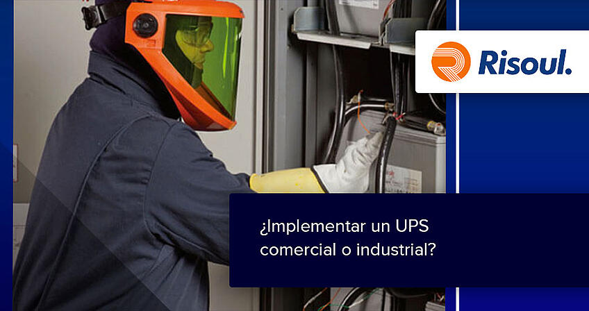 ¿Implementar un UPS comercial o industrial?