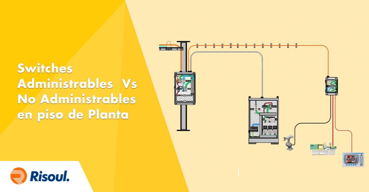 Switches Administrables  Vs  No Administrables  en piso de Planta