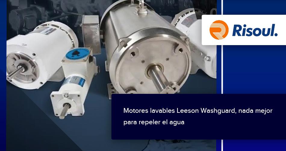 Motores lavables Leeson Washguard, nada mejor para repeler el agua