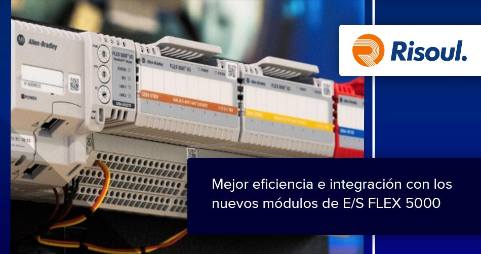 Mejora la eficiencia e integración con los nuevos módulos de E/S FLEX 5000