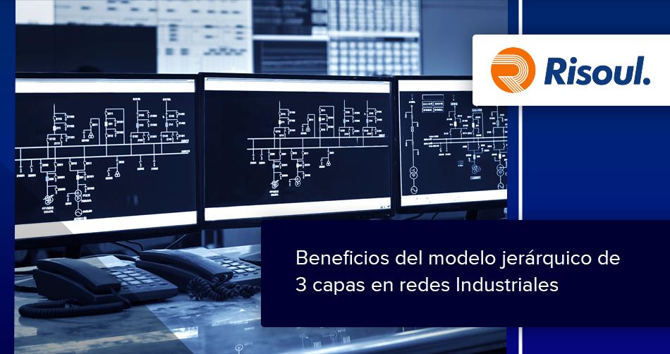 Beneficios del modelo jerárquico de 3 capas en redes Industriales