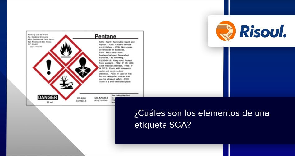 ¿Cuáles son los elementos de una etiqueta SGA?