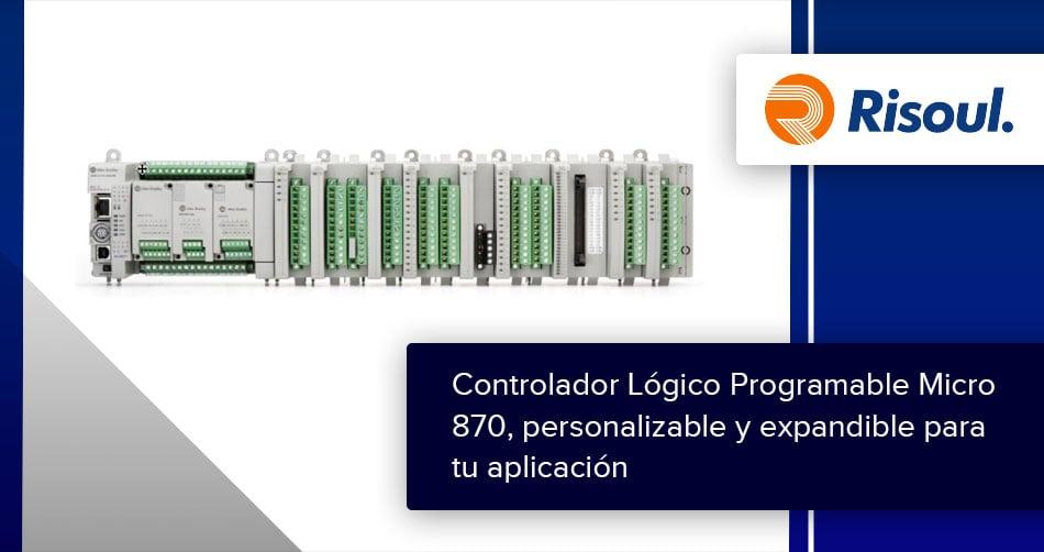 Controlador Lógico Programable Micro 870, personalizable y expandible para tu aplicación