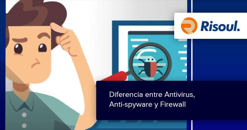 Diferencia entre Antivirus, Anti-spyware y Firewall