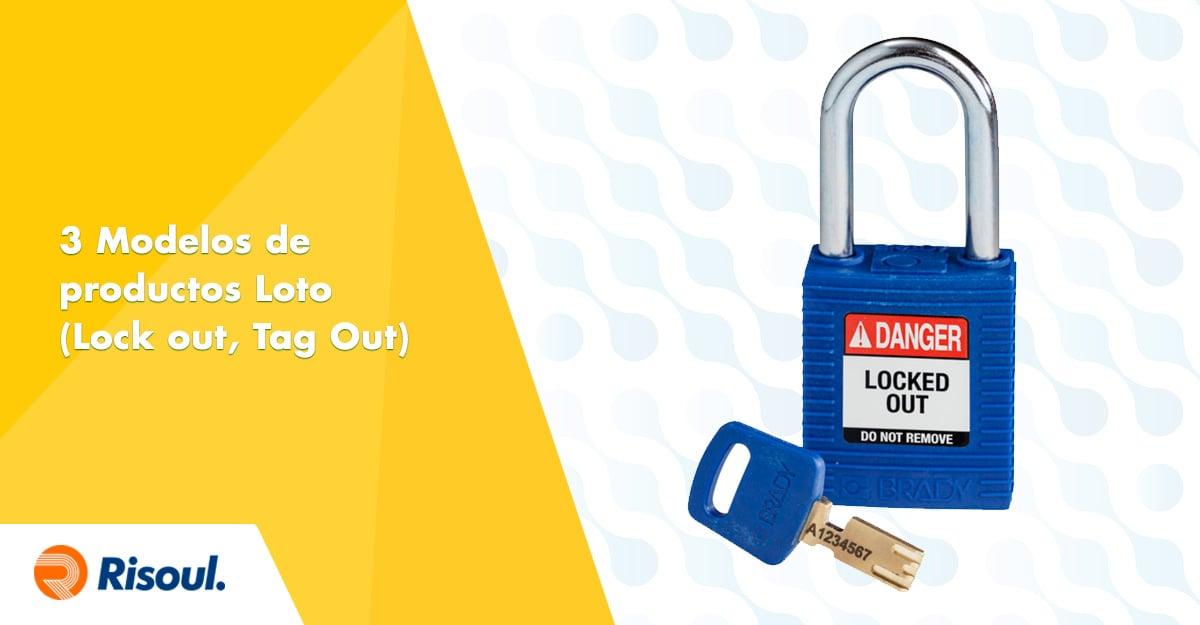 3 Modelos de productos Loto (Lock out, Tag Out) de Brady