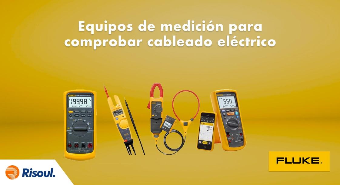 Equipos de medición Fluke para comprobación de cableado eléctrico y paneles