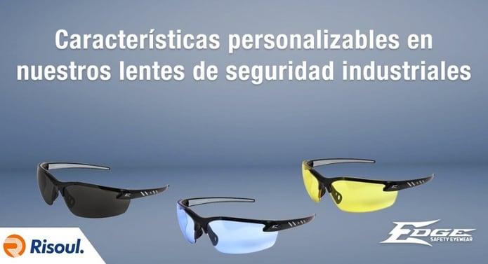 Características personalizables en nuestros lentes de seguridad industriales Edge Eyewear