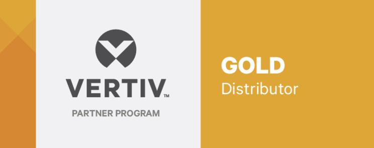 Gold distributor Vertiv