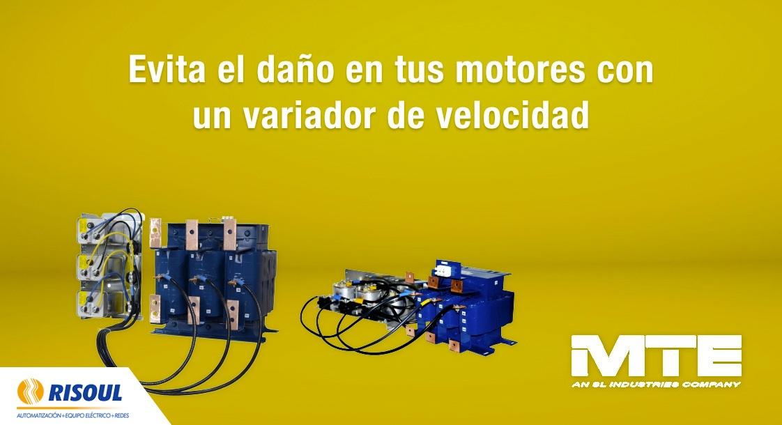 Evita el daño en tus motores con un variador de velocidad MTE