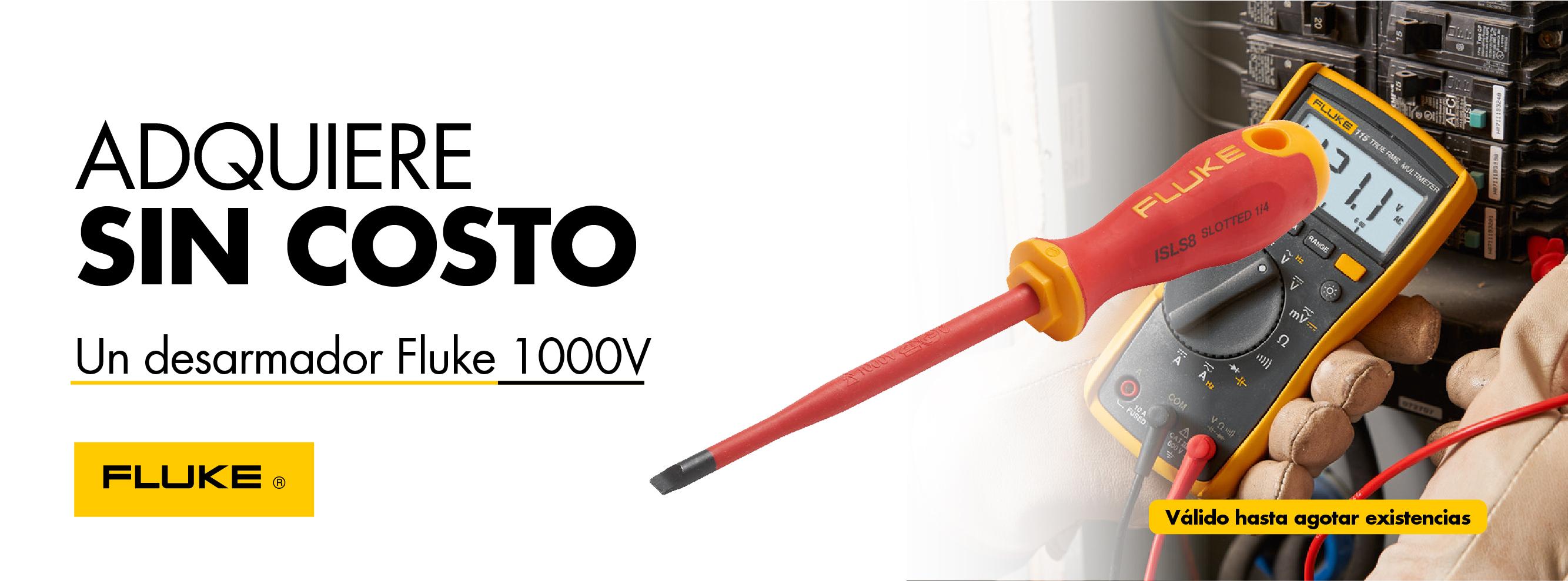 Obtén gratis un desarmador Fluke 1000V