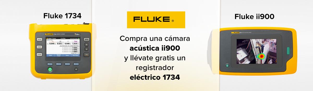 Lleva una cámara Fluke ii900, y de regalo adquiere un registrador Fluke 1734