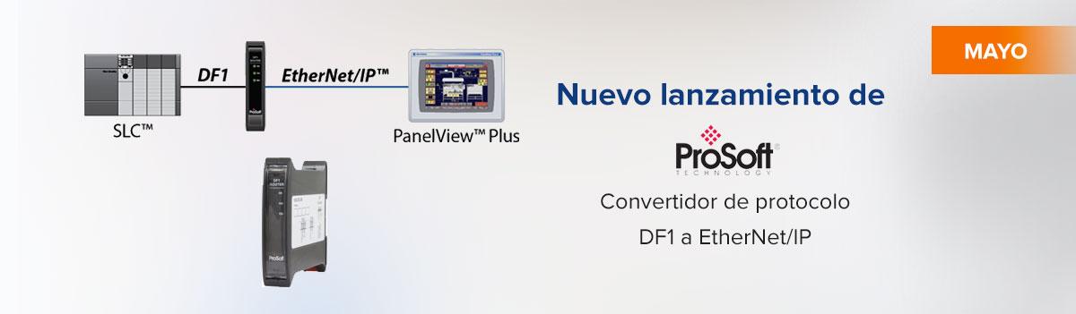 Convertidor de protocolo DF1 a EtherNet/IP